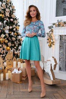Трикотажное бирюзовое платье Open-Style