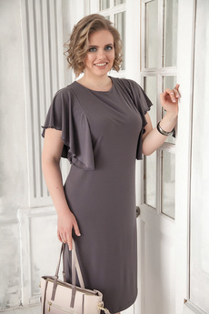 Платье цвета кофе с молоком Angela Ricci